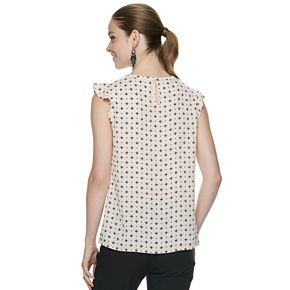 Women's ELLE? Pleat-Front Flutter-Sleeve Top