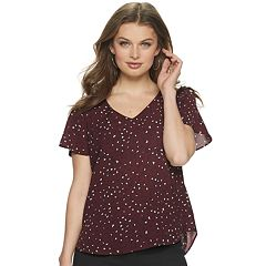 775d82d631 Women's ELLE™ Flutter-Sleeve Blouse
