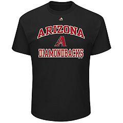 Big & Tall Majestic Arizona Diamondbacks Heart & Soul Graphic Tee