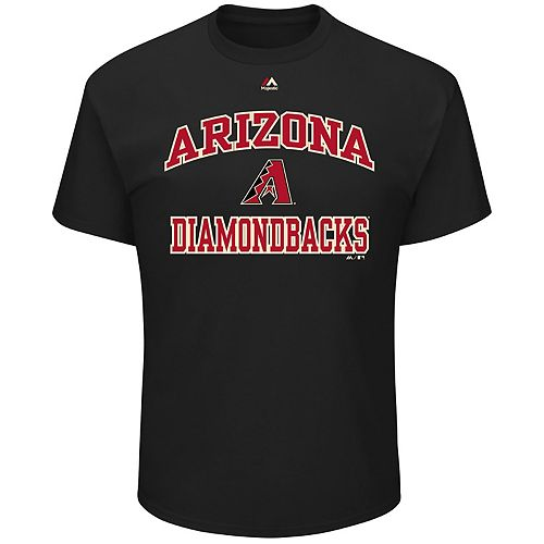 Big & Tall Majestic Arizona Diamondbacks Heart & Soul Graphic Tee
