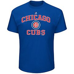 Big & Tall Majestic Chicago Cubs Heart & Soul Graphic Tee
