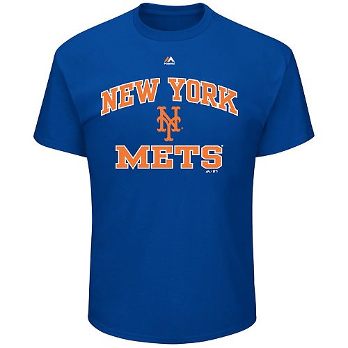 Big & Tall Majestic New York Mets Heart & Soul Graphic Tee