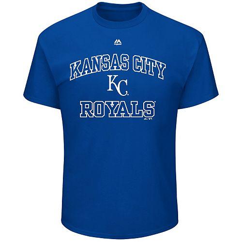 Big & Tall Majestic Kansas City Royals Heart & Soul Graphic Tee