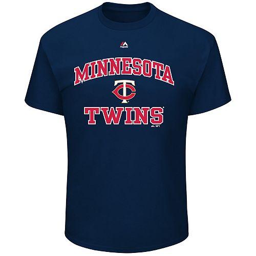 Big & Tall Majestic Minnesota Twins Heart & Soul Graphic Tee