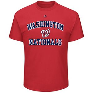 Big & Tall Majestic Washington Nationals Heart & Soul Graphic Tee
