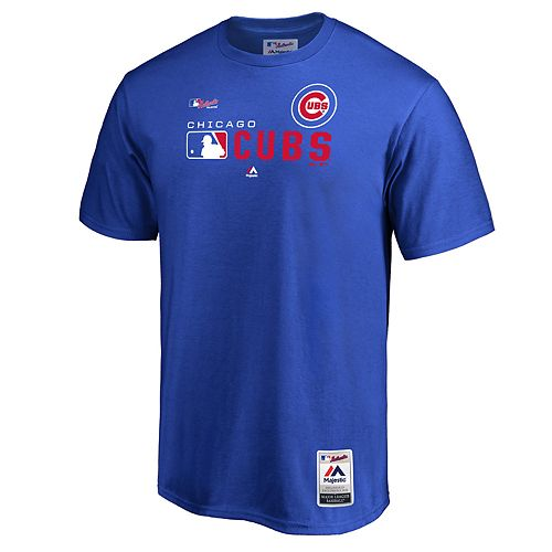 Big & Tall Majestic Chicago Cubs Authentic Graphic Tee