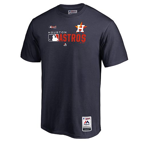 Big & Tall Majestic Houston Astros Authentic Graphic Tee