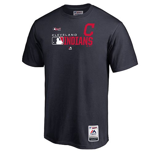 Big & Tall Majestic Cleveland Indians Authentic Graphic Tee
