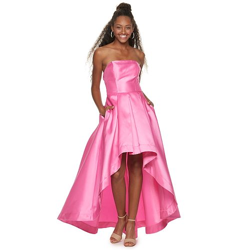 Juniors' Speechless Strapless High Low Dress