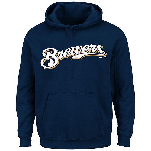 Big & Tall Milwaukee Brewers Pullover Fleece Hoodie