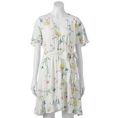 03132627f83 Women s LC Lauren Conrad Ruffle Faux-Wrap Dress. Lemon Valley White Knight
