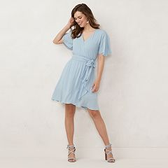 f0e9ffd0456 Women s LC Lauren Conrad Ruffle Faux-Wrap Dress