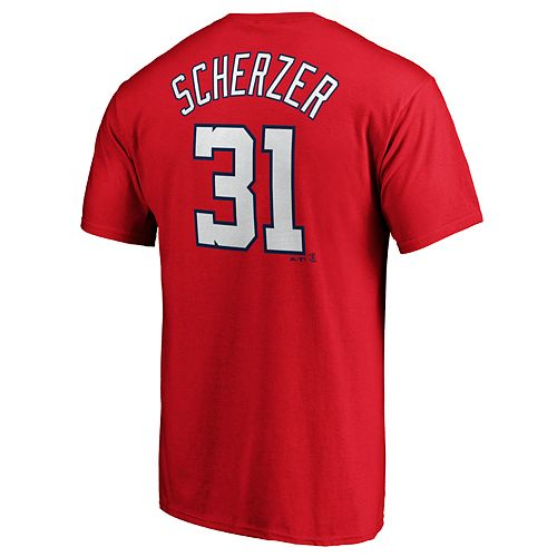 Men's Washington Nationals M Scherzer 31 Tee