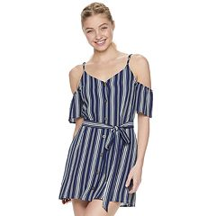 Juniors' Speechless Button Front Wrap Dress