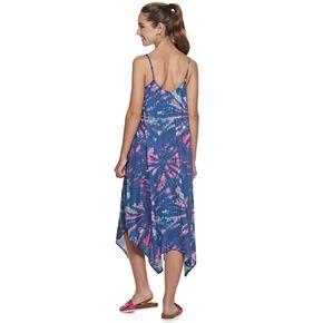 Juniors' Mudd® Handkerchief Hem Midi Dress