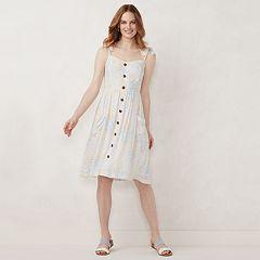 617ce9b765 Women s LC Lauren Conrad Button Front Dress