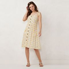 Women's LC Lauren Conrad Button Front Dress