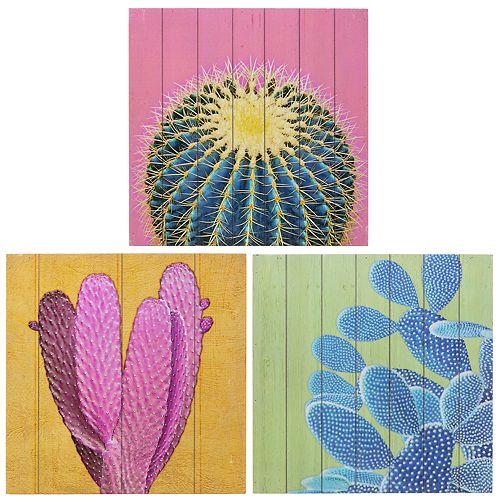 Kiera Grace Garcia Cactus Wall Art 3-piece Set
