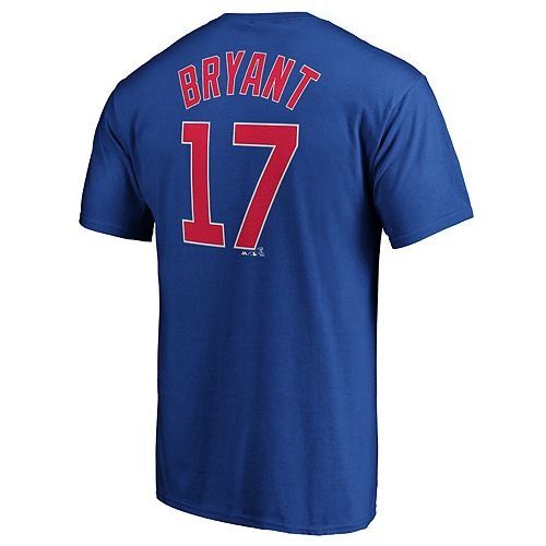 Men's Chicago Cubs K Bryant 17 Tee