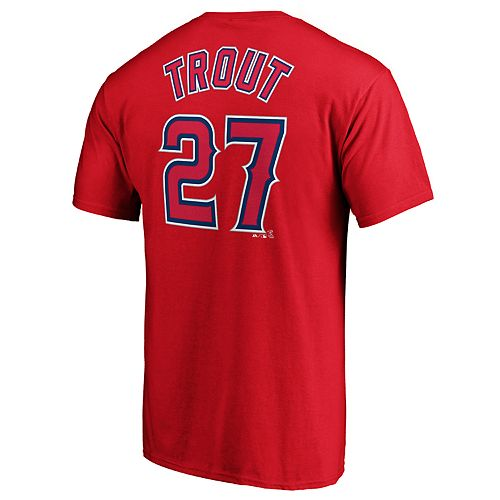 Men's Los Angeles Angels of Anaheim M Trout 27 Tee