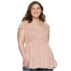 Juniors' Plus Size American Rag Short Sleeve Cupcake Top
