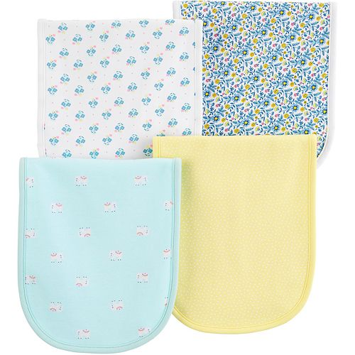 Baby Carter's 4-Pack Floral Burp Cloths