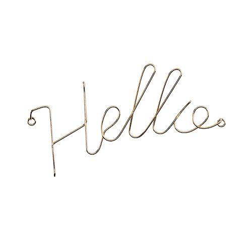 """LC Lauren Conrad """"Hello"""" Wall Decor"""