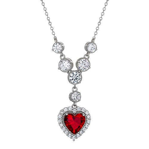 City Lights Cubic Zirconia Heart Drop Necklace