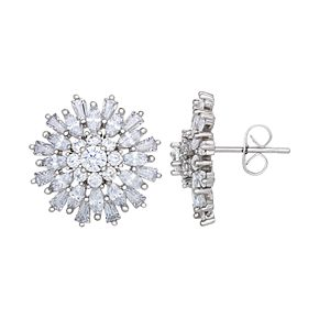 City Lights Cubic Zirconia Burst Stud Earrings