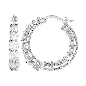City Lights Cubic Zirconia Hoop Earrings