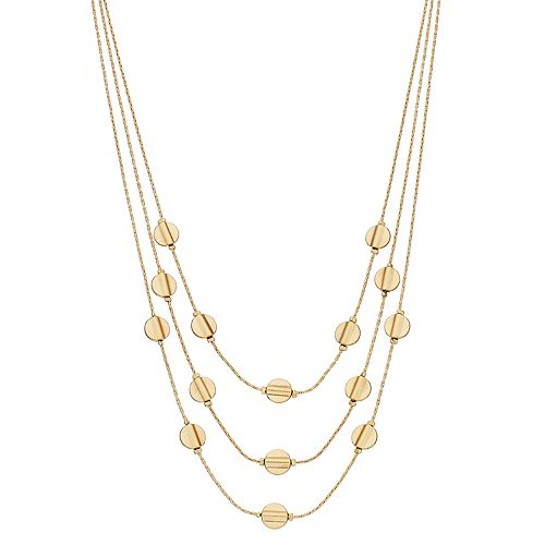 SONOMA Goods for Life™ Short Layered Disc Necklace