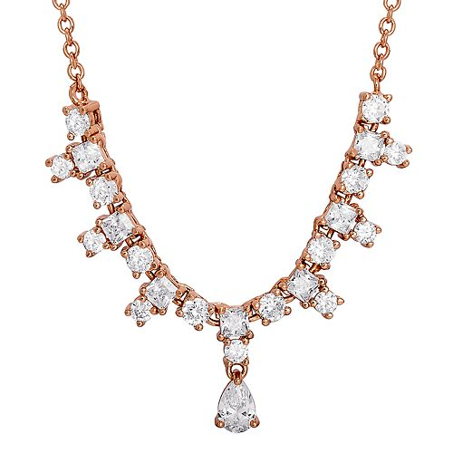 City Lights Cubic Zirconia Drop Necklace