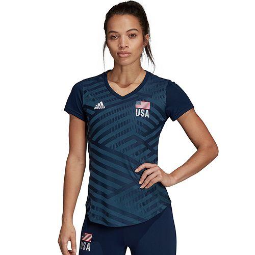 Women's Adidas USA Volleyball Replica T-Shirt