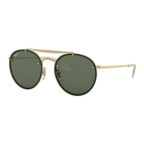 Unisex Ray-Ban Highstreet RB3614 54mm Metal Round Sunglasses