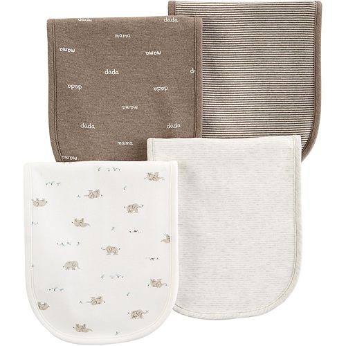 Baby Carter's 4-pack Printed Burp Cloths