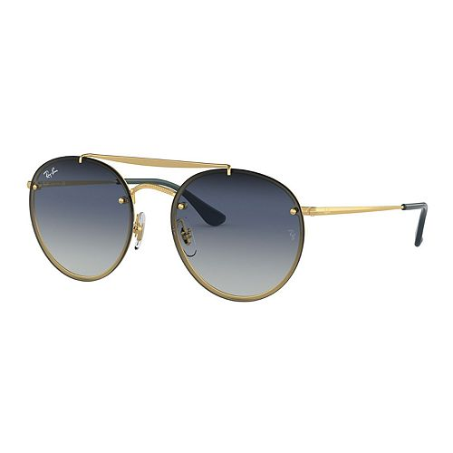 Unisex Ray-Ban Highstreet RB3614 Metal Round Sunglasses