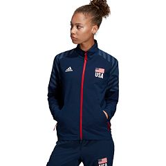 Women's Adidas USA Volleyball Warm Up Jacket