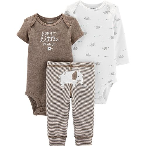 Baby Carter's 3 Piece Bodysuit & Pants Set