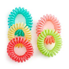 SO® Sherbet Phonecord Ponytail Holder Set