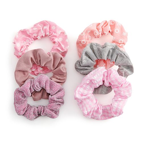 SO® Glitter Hair Scrunchie Mix Set of 6