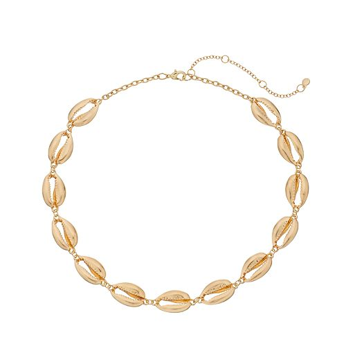 SONOMA Goods for Life™ Gold Tone Metal Shell Necklace