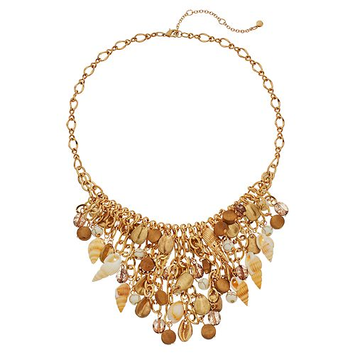 SONOMA Goods for Life™ Shakey Beaded & Shell Bib Necklace