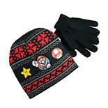 Boys 4-20 Nintendo Super Mario Bros. Beanie Hat & Gloves Set