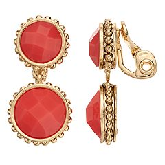 Napier Double Circle Clip On Earrings