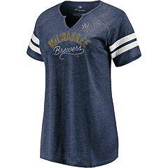 Plus Size Milwaukee Brewers Perfect Score Notch Vee Neck Tee 87c148fb1
