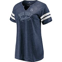 Plus Size New York Yankees Perfect Score Notch Vee Neck Tee a2f2b81bf70