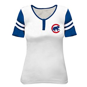 Plus Size Chicago Cubs Henley Top