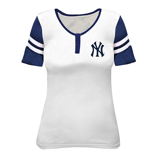 Plus Size New York Yankees Henley Top