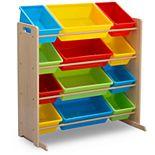 Delta Children Kids' 12 Plastic Bins Toy Storage Organizer