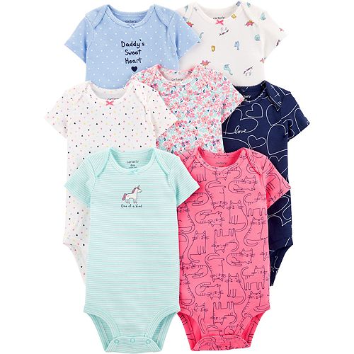 Baby Girl Carters 7-Pack Hearts Original Bodysuits